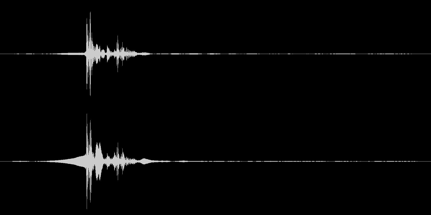 パソコンのEnterを押す音ですの未再生の波形