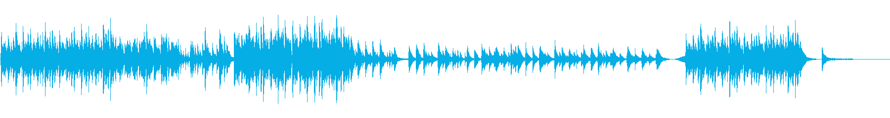 Piano 切ない Glocken オルの再生済みの波形