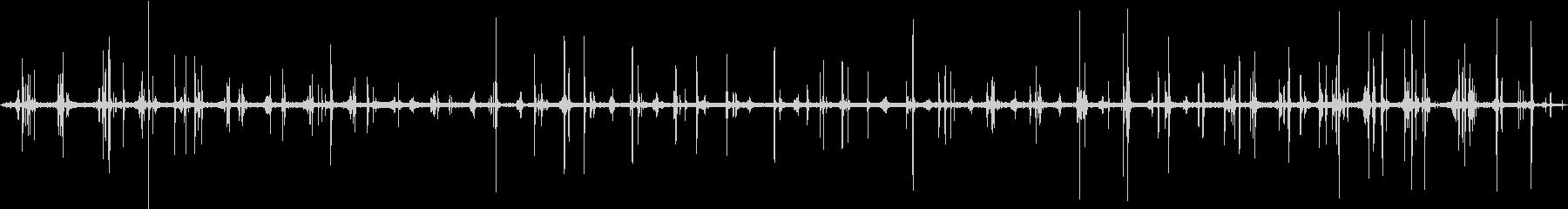 【生録音】雪の上を歩く音の未再生の波形