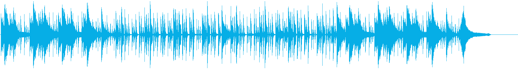 Daily BGM with a loose atmosphere's reproduced waveform