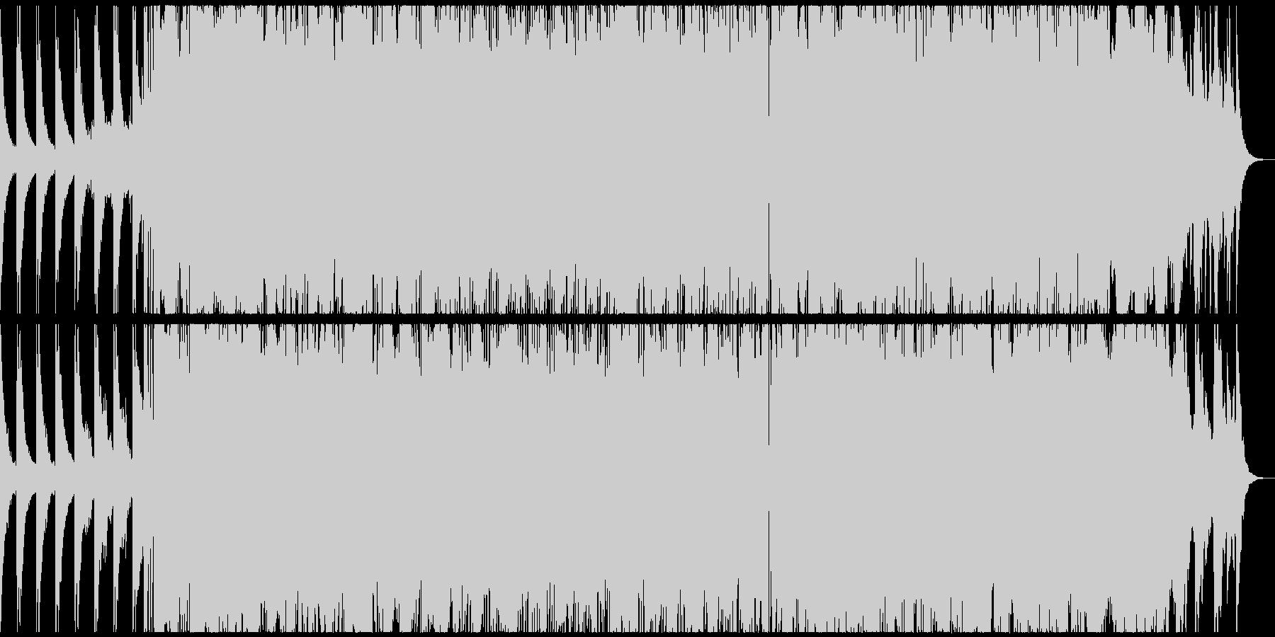頑張る人を応援する電子音的チルホップの未再生の波形