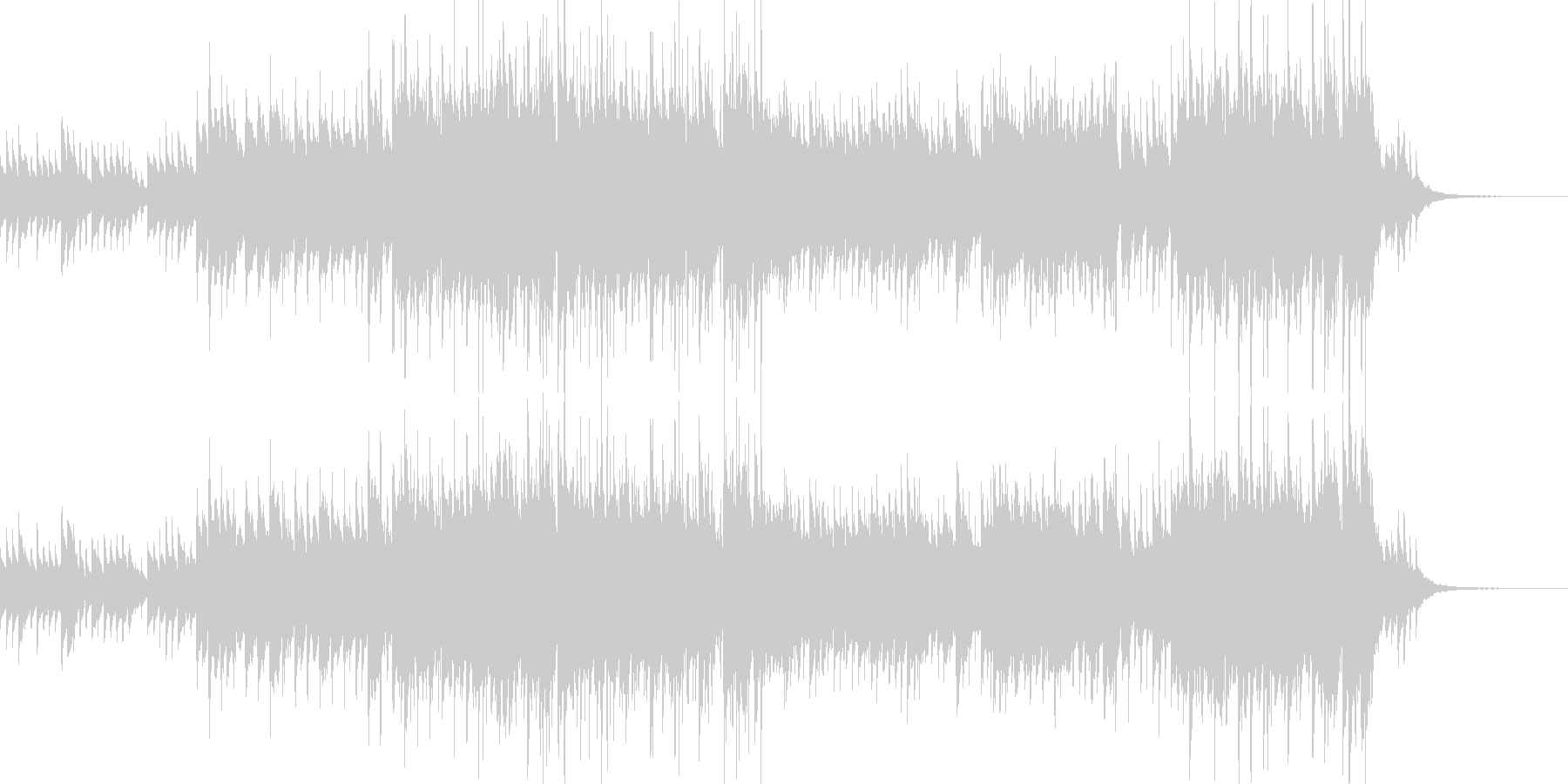 メロディが同じループのフィールド曲の未再生の波形