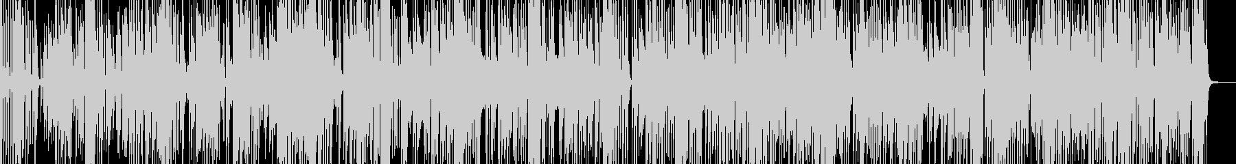 動きや変化をイメージしたファンクロックの未再生の波形