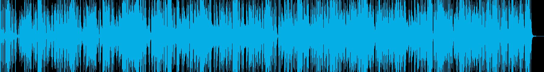 動きや変化をイメージしたファンクロックの再生済みの波形