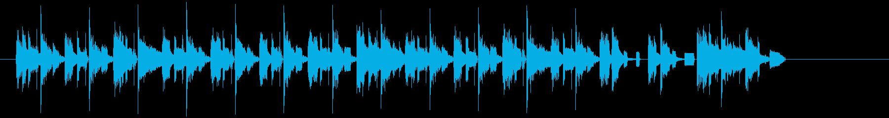 8bitのコミカルなジングルの再生済みの波形