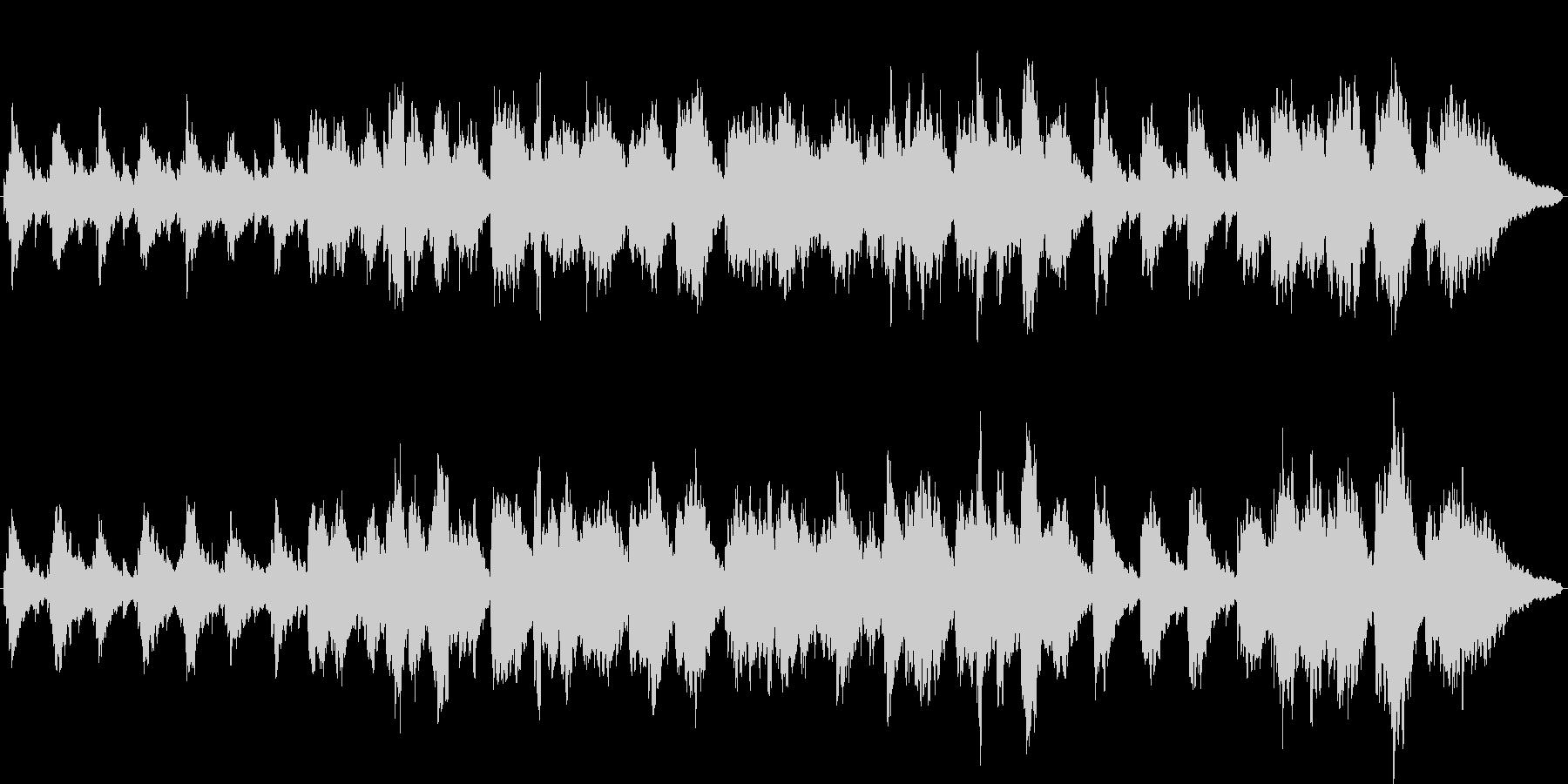 ローズピアノの眠くなるBGM2の未再生の波形