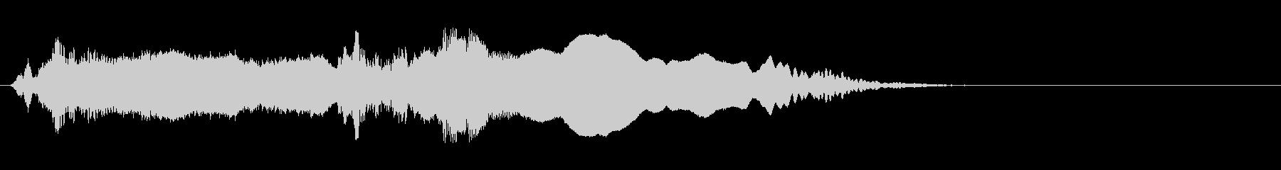 尺八の和風ジングル ソロの未再生の波形