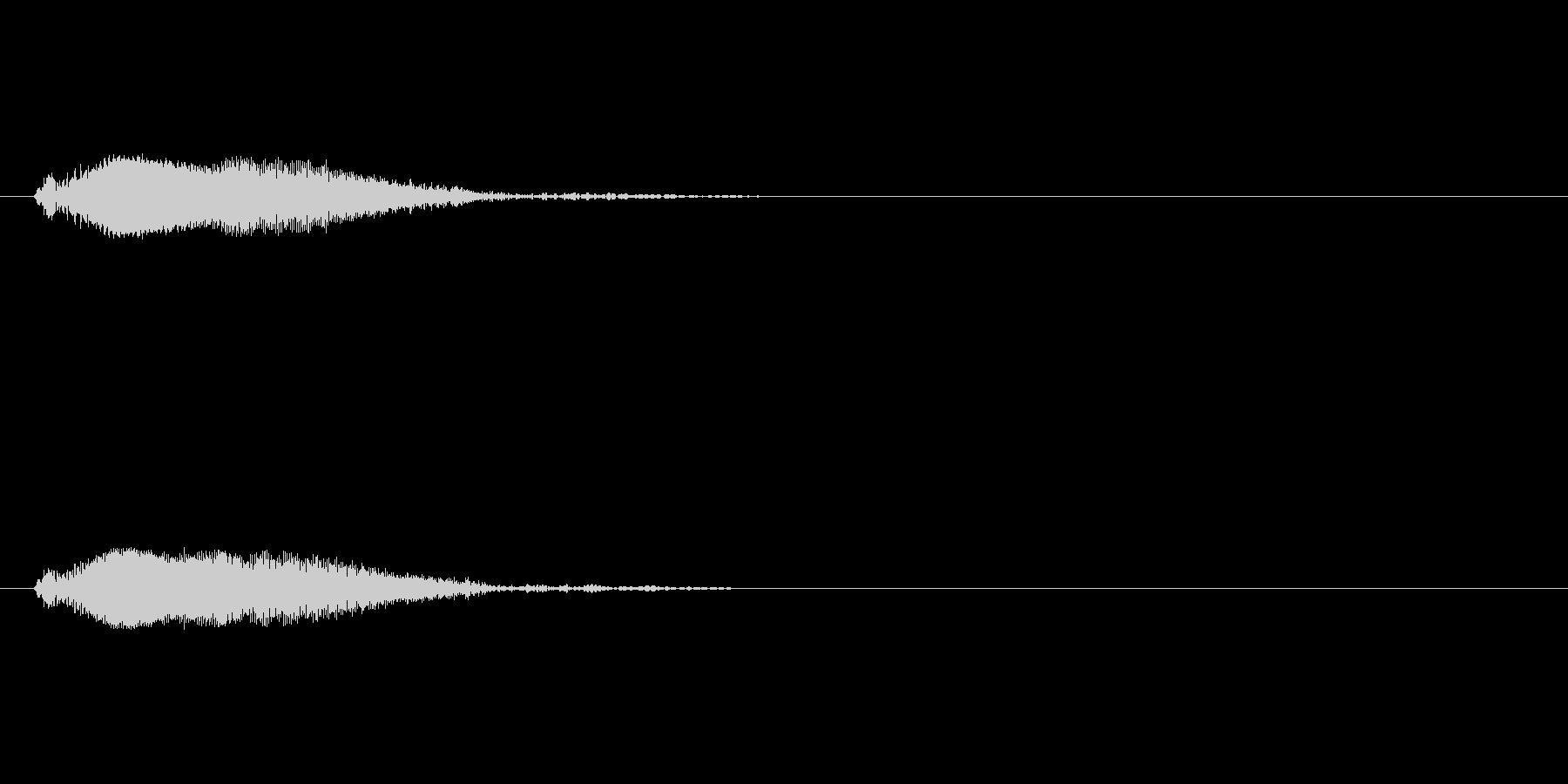 ポワーンというジャンプ/浮遊音(高音)の未再生の波形