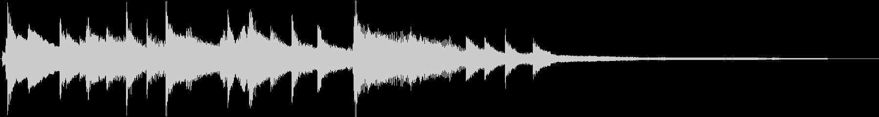 スイングしたリズムのピアノサウンドロゴの未再生の波形