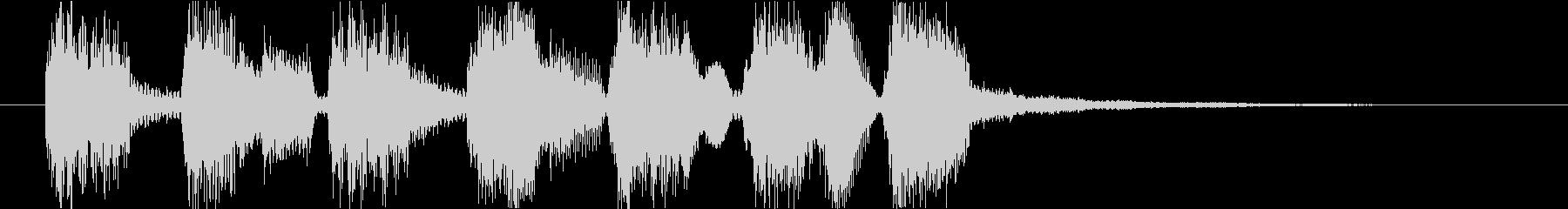 ジングル ゲームオーバー ポップの未再生の波形