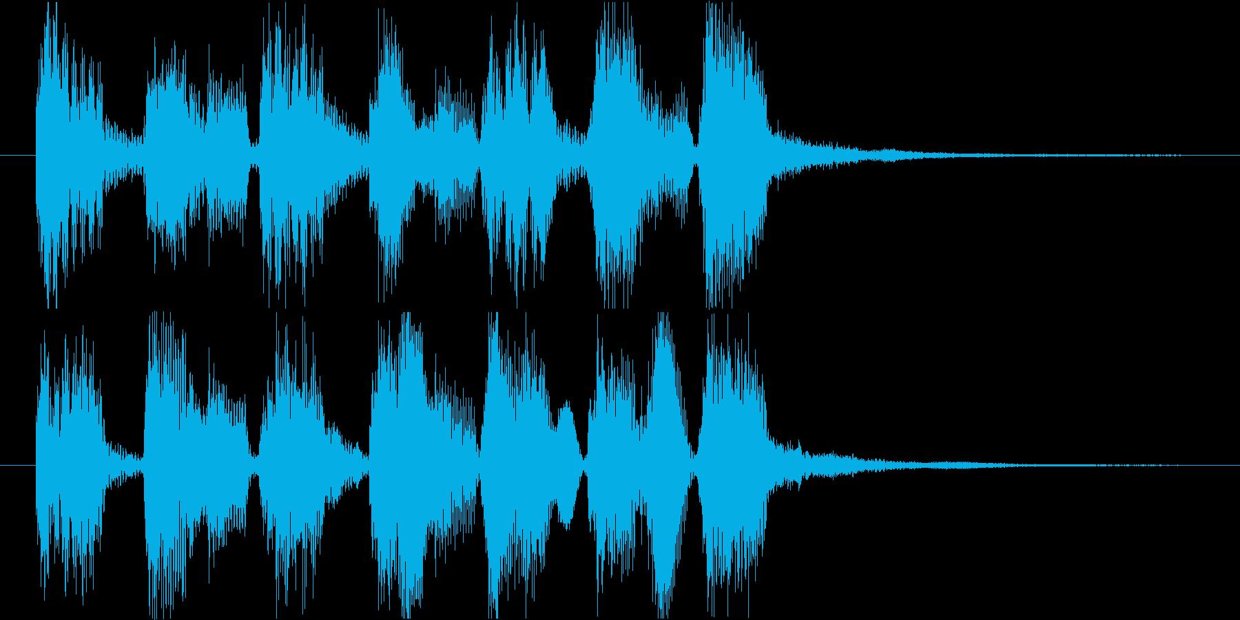 ジングル ゲームオーバー ポップの再生済みの波形