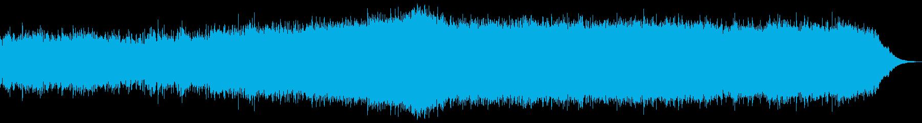 ミドルテンポのギターインストの再生済みの波形