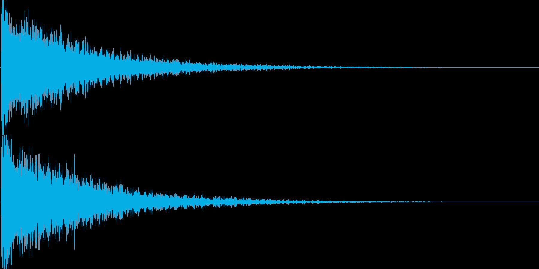 ドーン 爆発音2の再生済みの波形