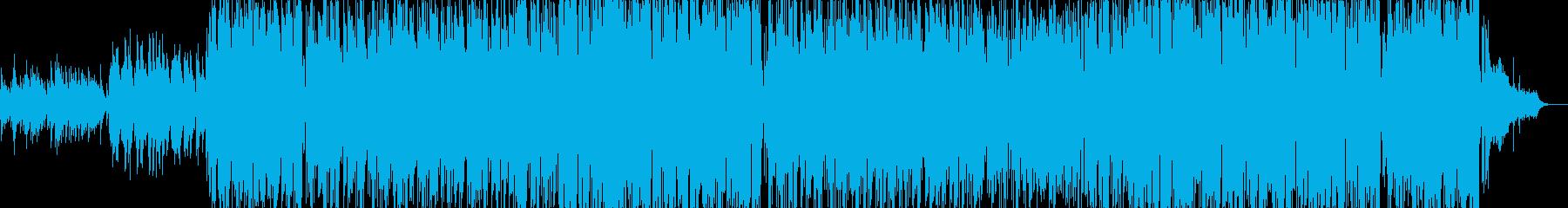 JPOPのカラオケのようなPOP曲の再生済みの波形