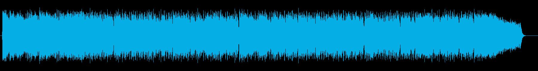 明るく疾走感のあるシンセサイザーサウンドの再生済みの波形