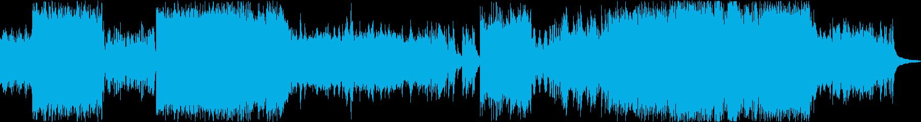 ストーリー性のある約3分のBGMの再生済みの波形
