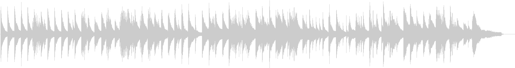 抑揚の少ない静かなピアノ曲の未再生の波形