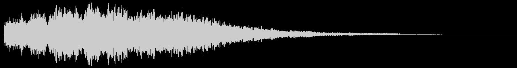 優しい煌びやかな音のサウンドロゴ ポップの未再生の波形