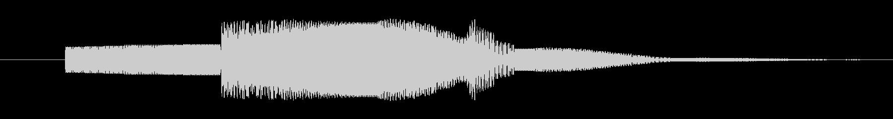 電子音的ボタン音の未再生の波形