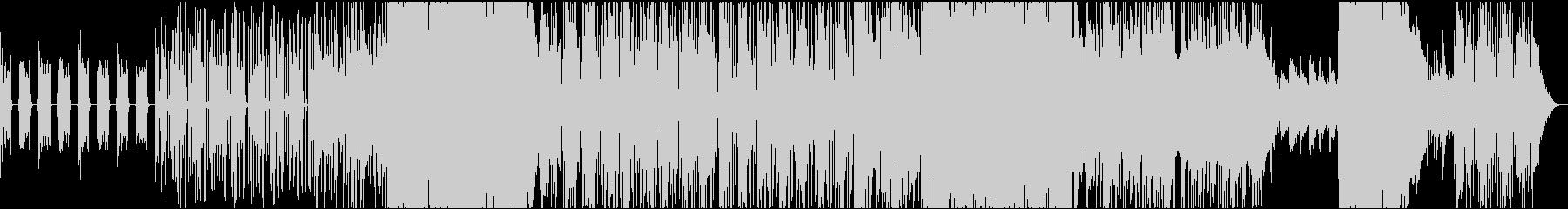 雨降るイメージのロックバラードインストの未再生の波形