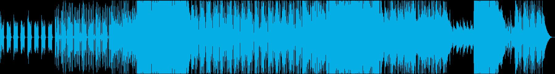 雨降るイメージのロックバラードインストの再生済みの波形