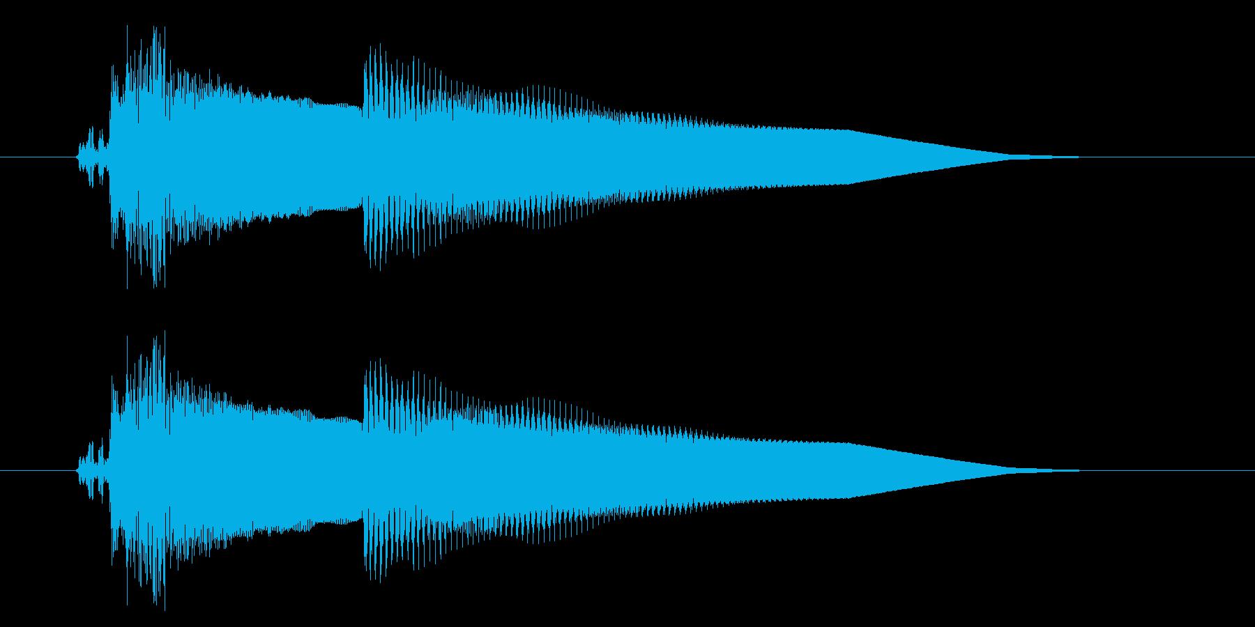 改札 アラーム01-1(音色1 フラップの再生済みの波形