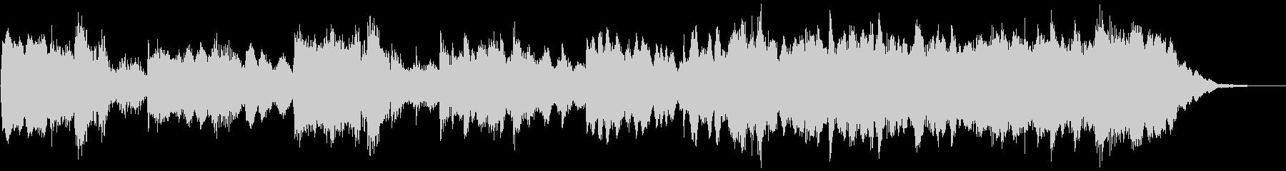 ハロウィン系BGM ピアノ主体のジングルの未再生の波形
