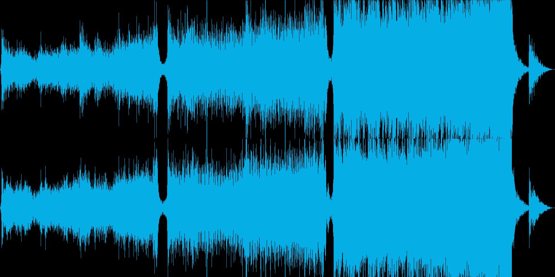映画の背景の再生済みの波形