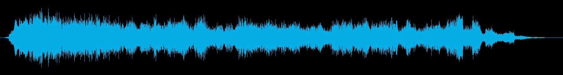 小さいスタジオの聴衆:学齢期の子供...の再生済みの波形