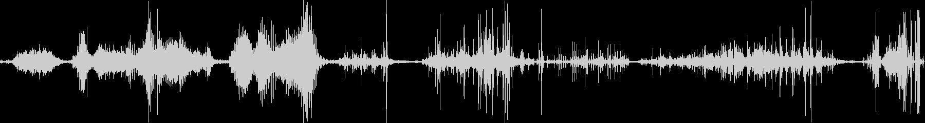 地震おしゃべりランブルの未再生の波形