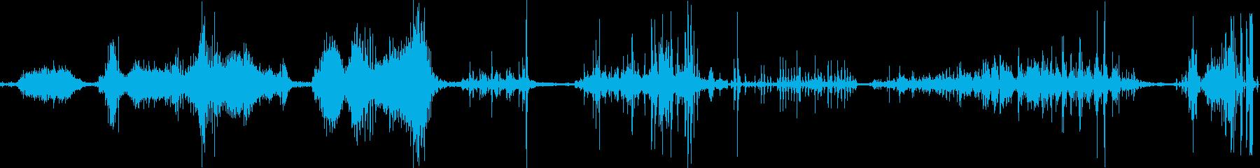 地震おしゃべりランブルの再生済みの波形