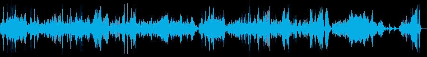 ベートーヴェンの月光#3の再生済みの波形