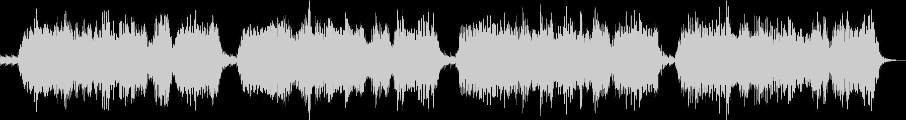 ソルフェジオ周波数を使ったヒーリング音楽の未再生の波形