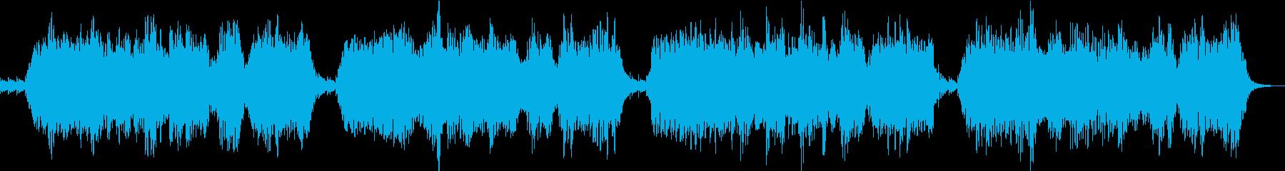 ソルフェジオ周波数を使ったヒーリング音楽の再生済みの波形
