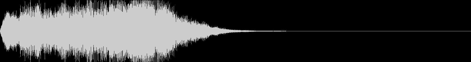 管弦楽の浮遊感あるジングルの未再生の波形