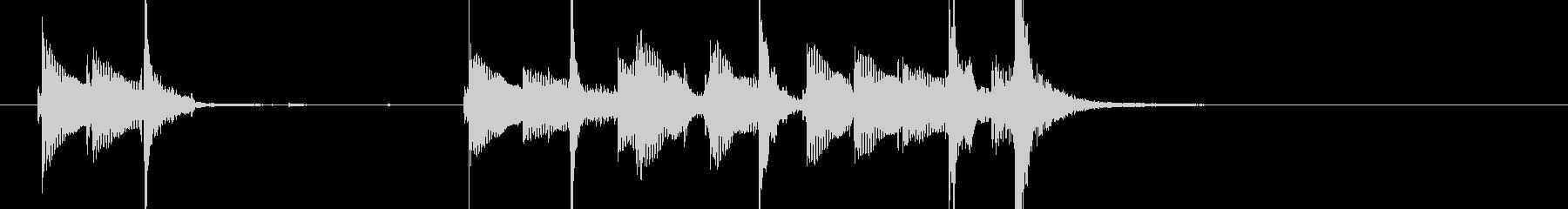 三味線102ロックっぽいリフ生音歌舞伎和の未再生の波形