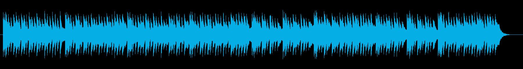 水を連想させるワルツのようなBGMの再生済みの波形