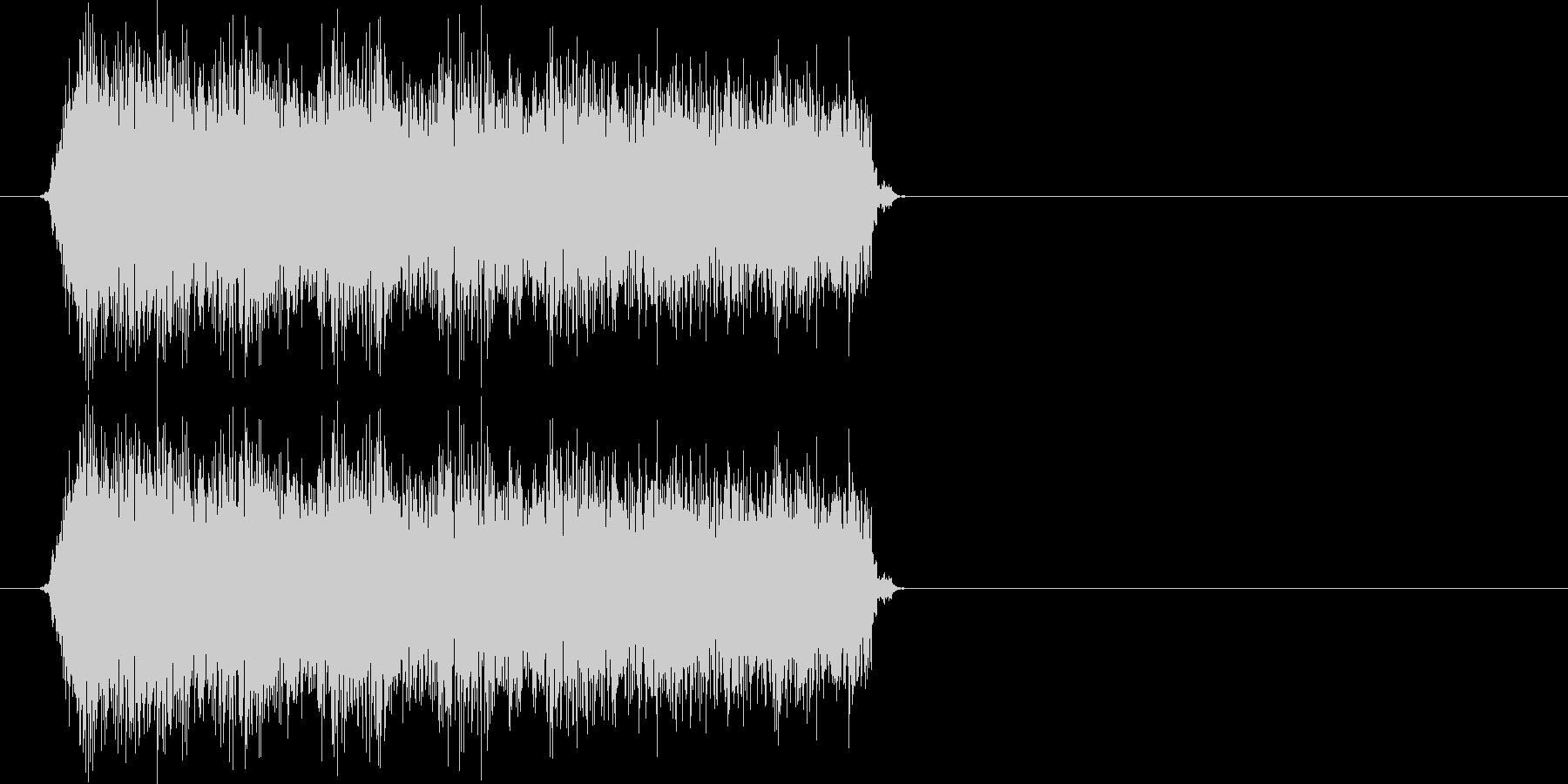 パパパパパッ(バルカン、連射ショット)の未再生の波形