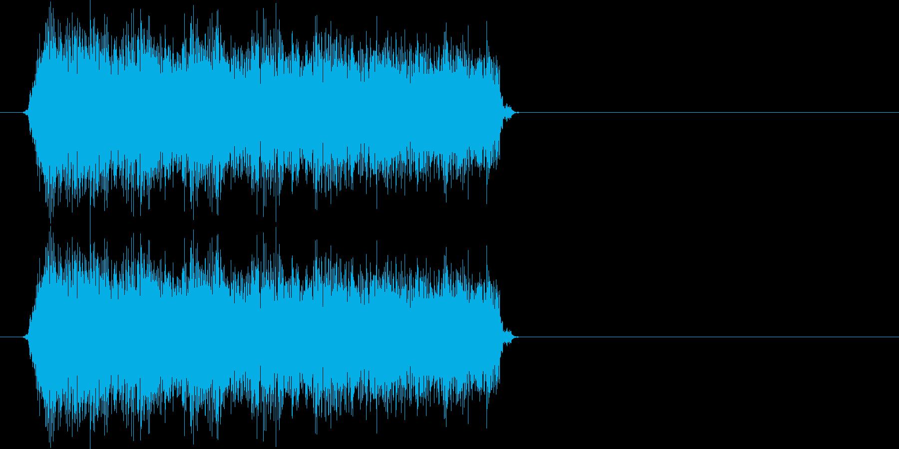 パパパパパッ(バルカン、連射ショット)の再生済みの波形