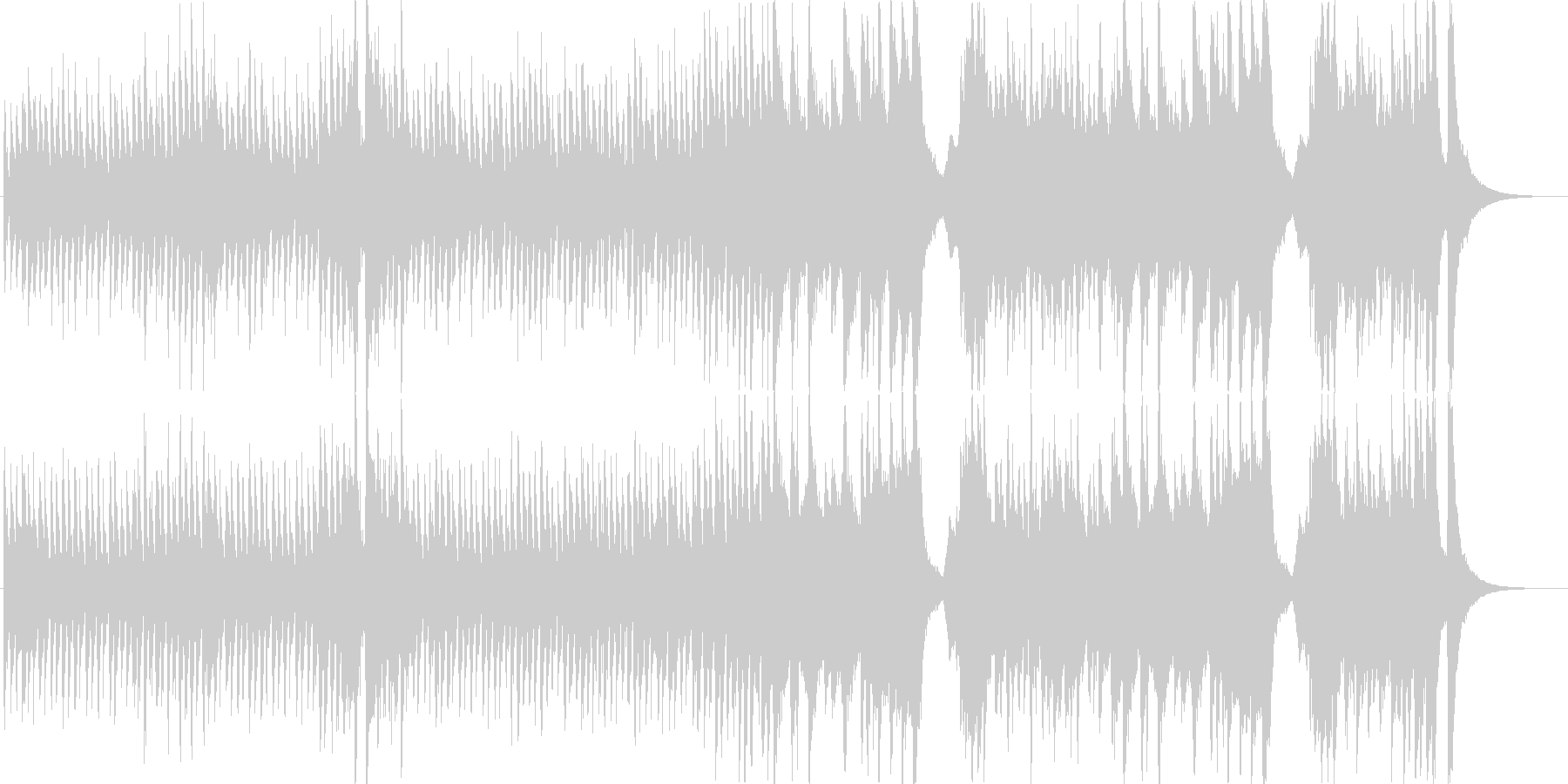 明るく賑やかで愉快なオーケストラマーチ1の未再生の波形