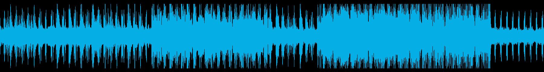 ゆったりリラックスできるヒーリング音楽の再生済みの波形