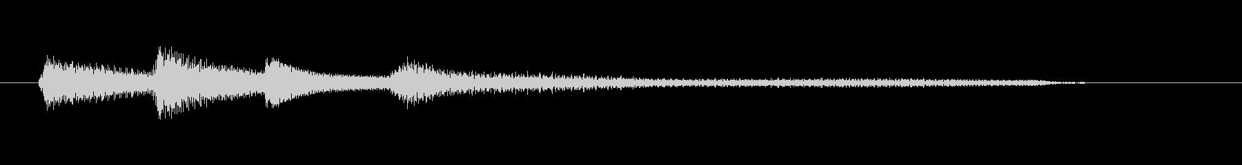 チャプター・場面転換等にピアノジングルKの未再生の波形