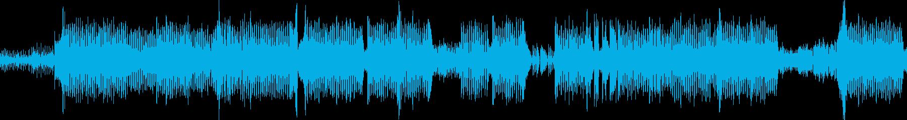 疾走感のあるおしゃれなコードのEDMの再生済みの波形