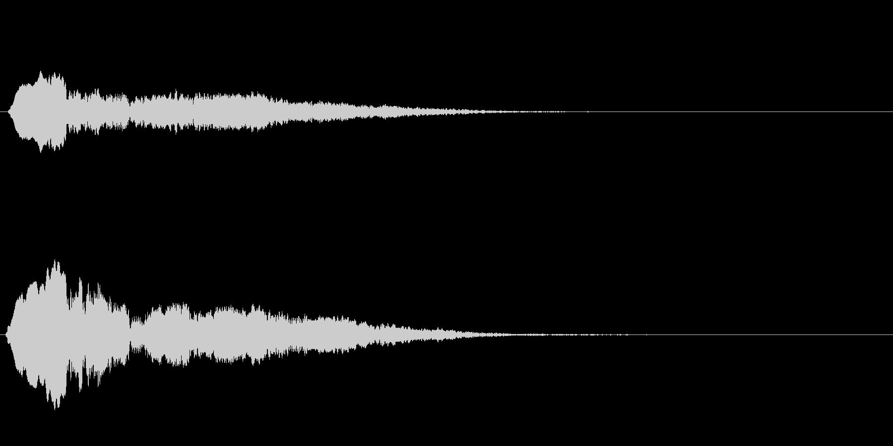 おばけ ひゅう~の未再生の波形
