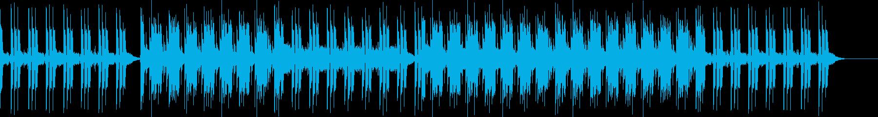 ホラー映画/サスペンス的不気味な曲の再生済みの波形