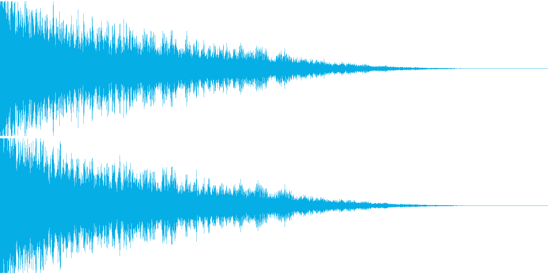 爆発 ドカーン ドーン 衝撃 バーンの再生済みの波形