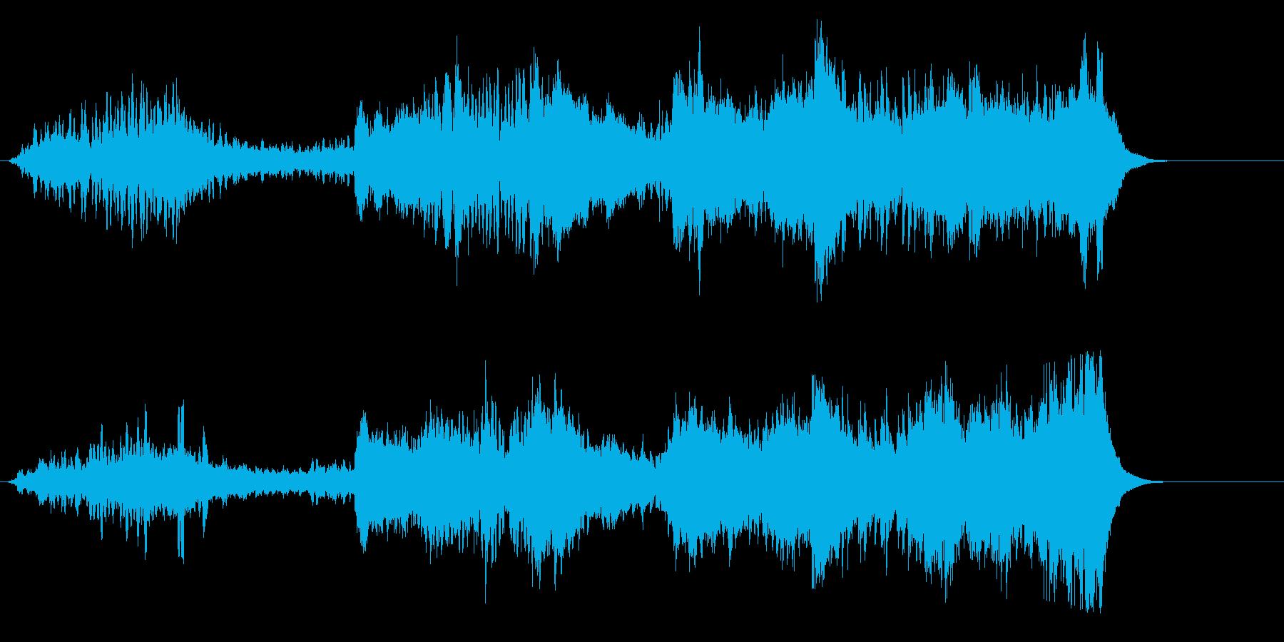無重力空間のニュー・アンビエントの再生済みの波形