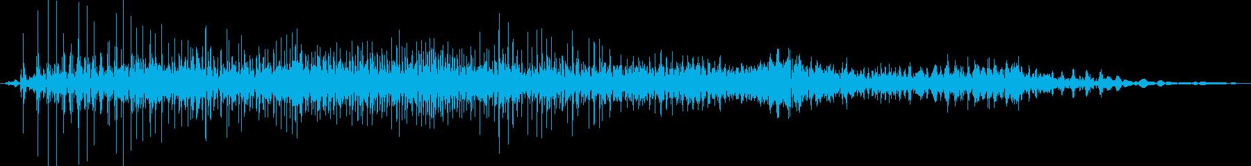 ジー(ジッパーの音※普通)の再生済みの波形