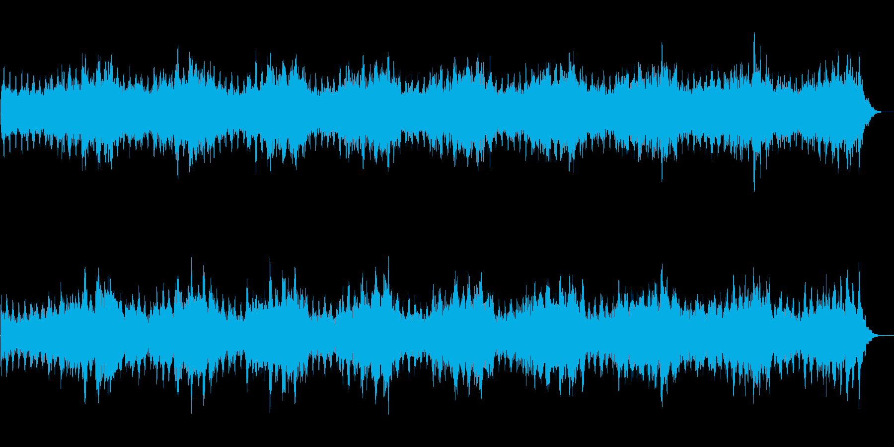 シンセを使ったホラー系BGM(5分+α)の再生済みの波形