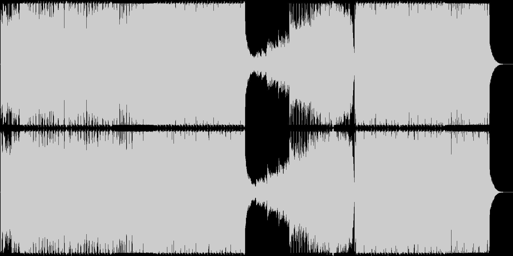 エレクトロベースのブレイクスの未再生の波形